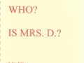 Who is Mrs D.?